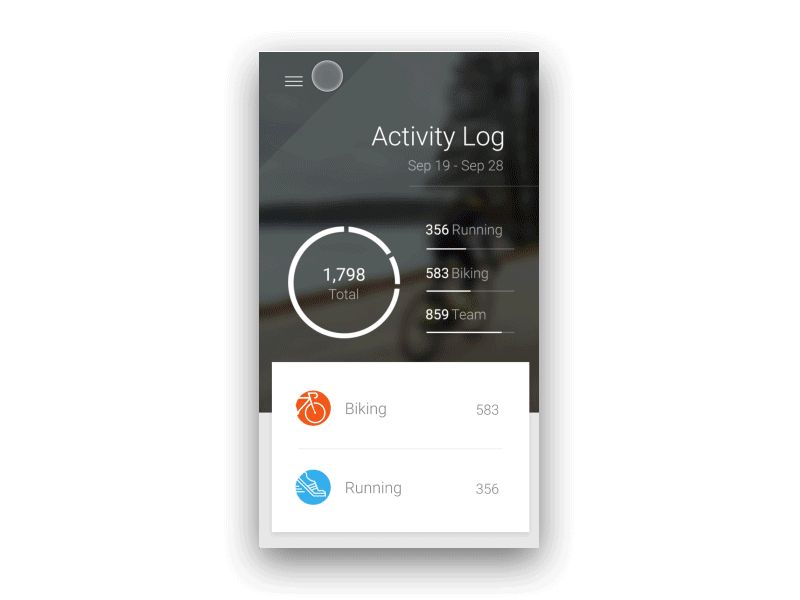 Activity Log Interaction